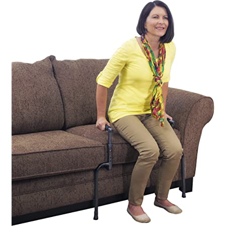 Able Life Universal Stand Assist Adjustable Standing Mobility Aid Chair Assist Grab Bars With Cushioned Support Handles Independent Living Aid Health Personal Care