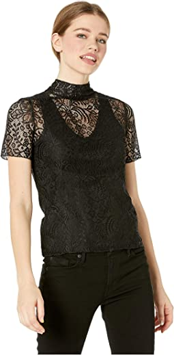 Lace Turtleneck Tee