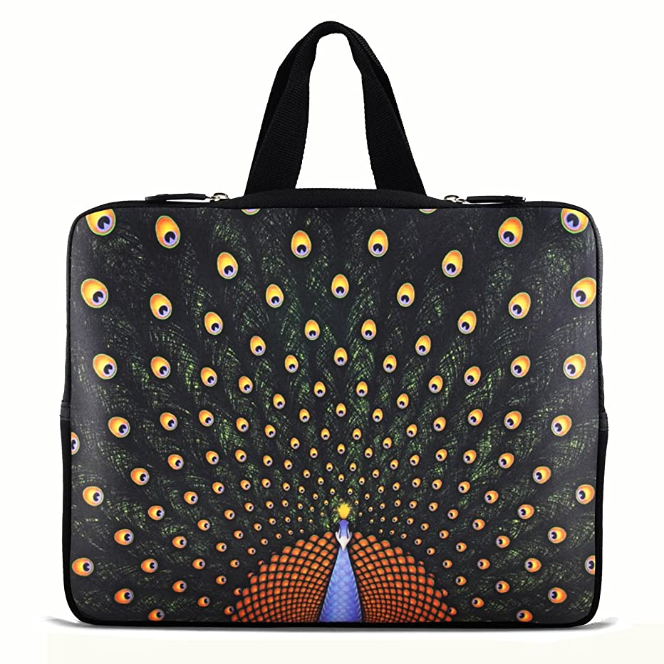 Peacock 15,15.4,15.6 Inch Notebook Laptop Case Sleeve Carrying bag with Hide Handle for Tablets