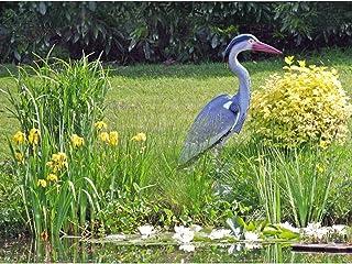 Reiherschreck Gusseisen Fischreiher Graureiher Vogelfigur Teich Gartenfigur