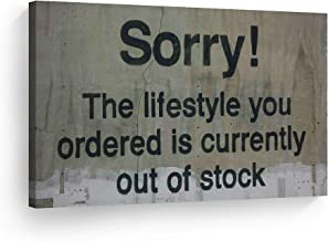 BONUS BANKSY WALL DECAL! Banksy Life Is Beautiful Gallery Wrapped Canvas