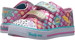 SKECHERS KIDS Twinkle Toes: Shuffles - Poppin' 10835N Lights (Toddler)