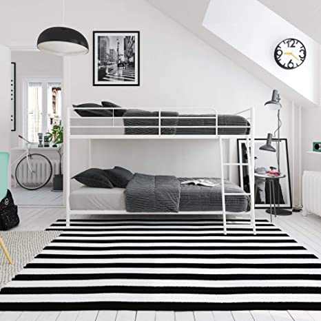 Amazon Com Dhp Junior Twin Low Bed For Kids White Bunk Furniture Decor