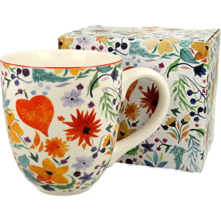 Jumbotasse Kaffeebecher XXL Pink Flowers 900 ml Riesentasse Kaffeetasse XXXL