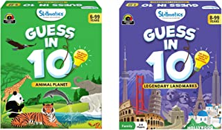 Skillmatics Guess in 10 - Animal Planet + Legendary Landmarks (Ages 6-99) Bundle | Card Game of Smart Questions | General ...