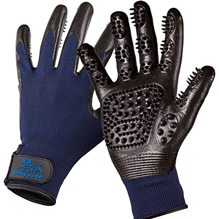 Grooming Award Winning Handson Gloves for Shedding #1 Ranked Bathing De-Shedding Horses//Dogs//Cats//Livestock//Small Pets