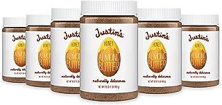 Justin's Honey Almond Butter, No Stir, Gluten-free, Non-GMO, Responsibly Sourced, 6 Jars, 16oz each