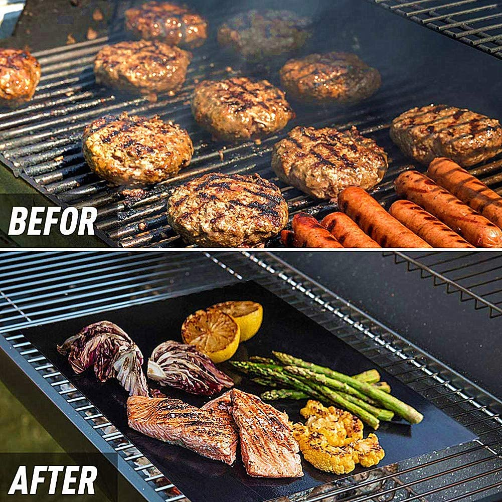 ZUOLUO Magic Barbecue Tapis de Cuisson Tapis de Cuisson Barbecue Tapis Barbecue Tapis Grill Barbecue de Maille Tapis Grill Tapis 5 1