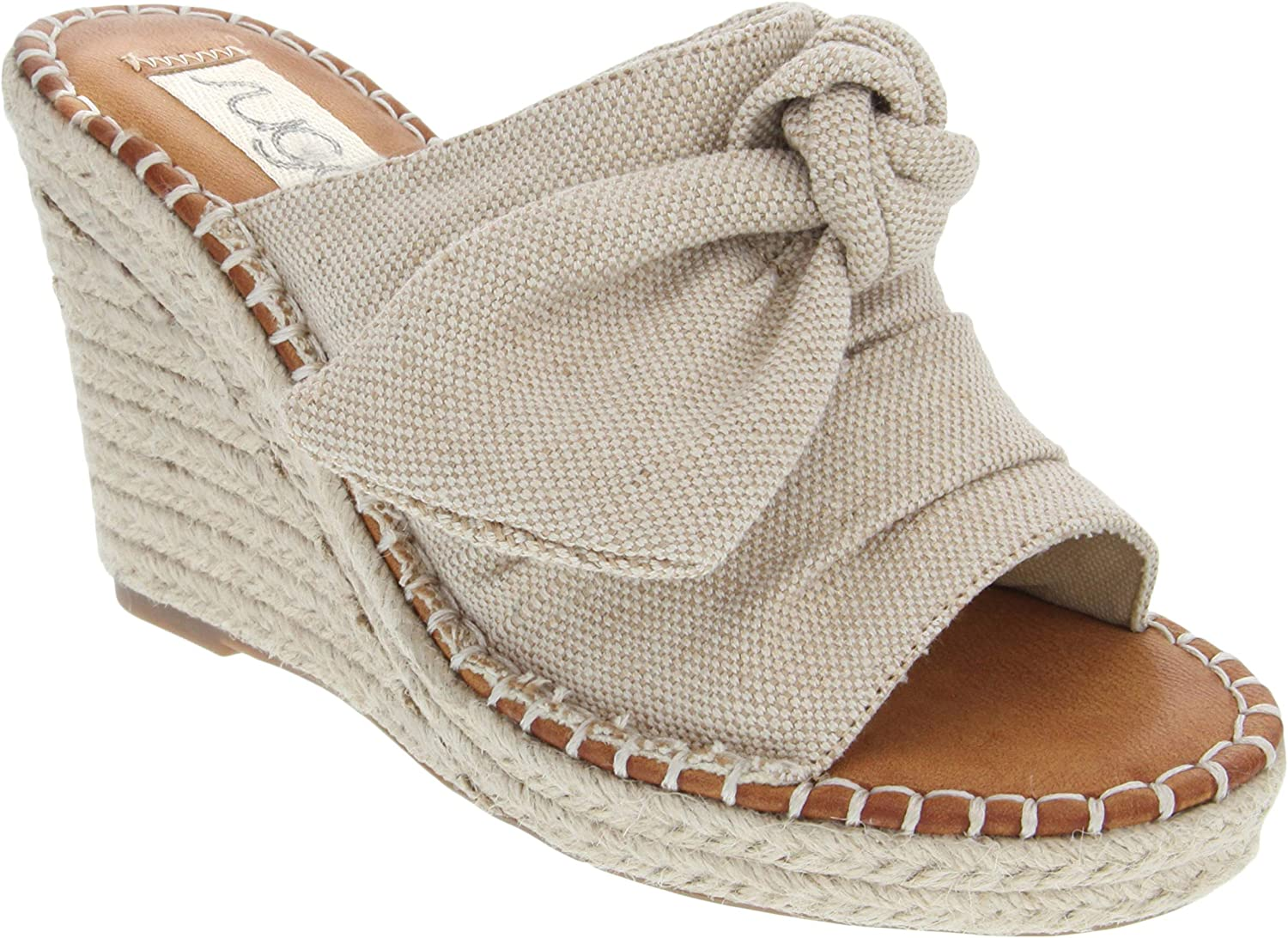 Sugar Women's Hundreds Espadrille Wedge Sandals with Knotty Bow Detail