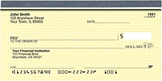 yellow personal checks