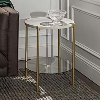 Best small white marble side table Reviews