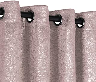 GoodGram 2 Pack Sparkle Chic Thermal Blackout Curtain Panels - Assorted Colors & Sizes (Rose/Pink, 84 in. Long)