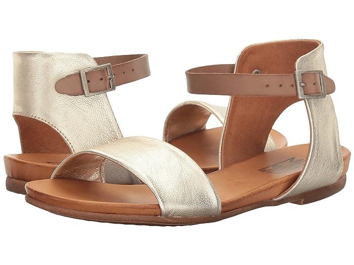 70s Shoes, Platforms, Boots, Heels Miz Mooz Alanis Gold Womens Sandals $89.95 AT vintagedancer.com
