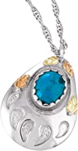 product image for Black Hills Gold on Silver Bear Paw Pendant with Turquoise