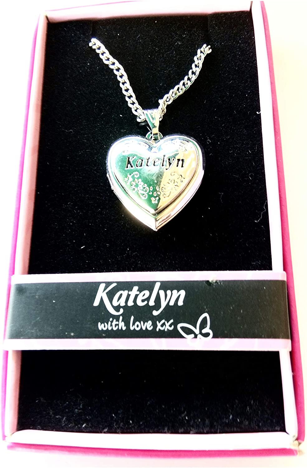 Love Locket Necklace with 16-18 inch Adjustable Chain. Katelyn