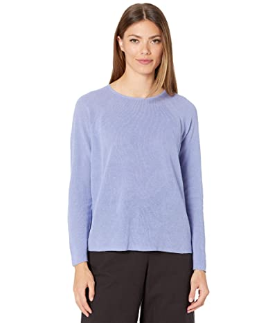 Eileen Fisher Organic Linen Cotton Crew Neck Top (Hydrangea) Women