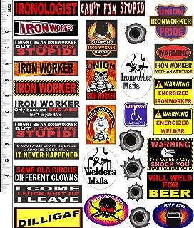 hard hat stickers, IRONWORKER 31 STICKER VALUE PACK