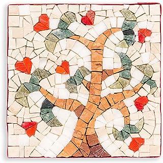 MyriJoy - Kit Mosaico Adulti - Albero della Vita Bianco - fai da te - Hobby creativo - Idea regalo originale - 14x14cm - t...