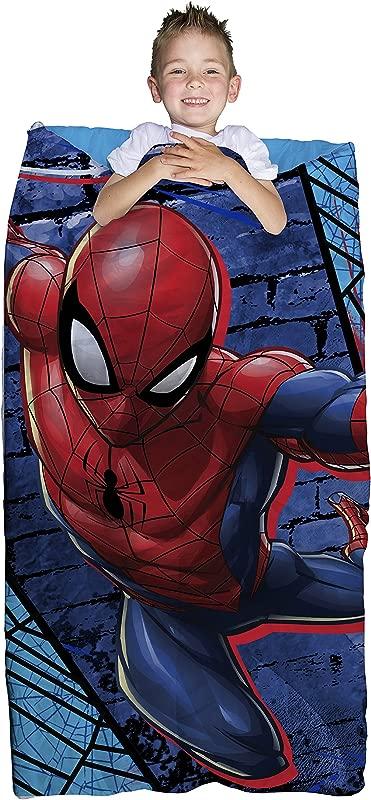 Marvel Spiderman Blue Thwip 2 Piece Children S Slumber Bag 30 X 54