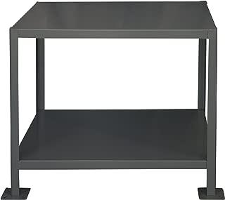 Durham Steel Heavy Duty Machine Table, MT364836-3K295, 2 Shelves, 3000 lbs Capacity, 48