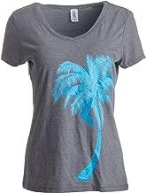 Palm Tree Art | Cute Tropical Desert Print, Cali Florida Women's V-Neck T-Shirt