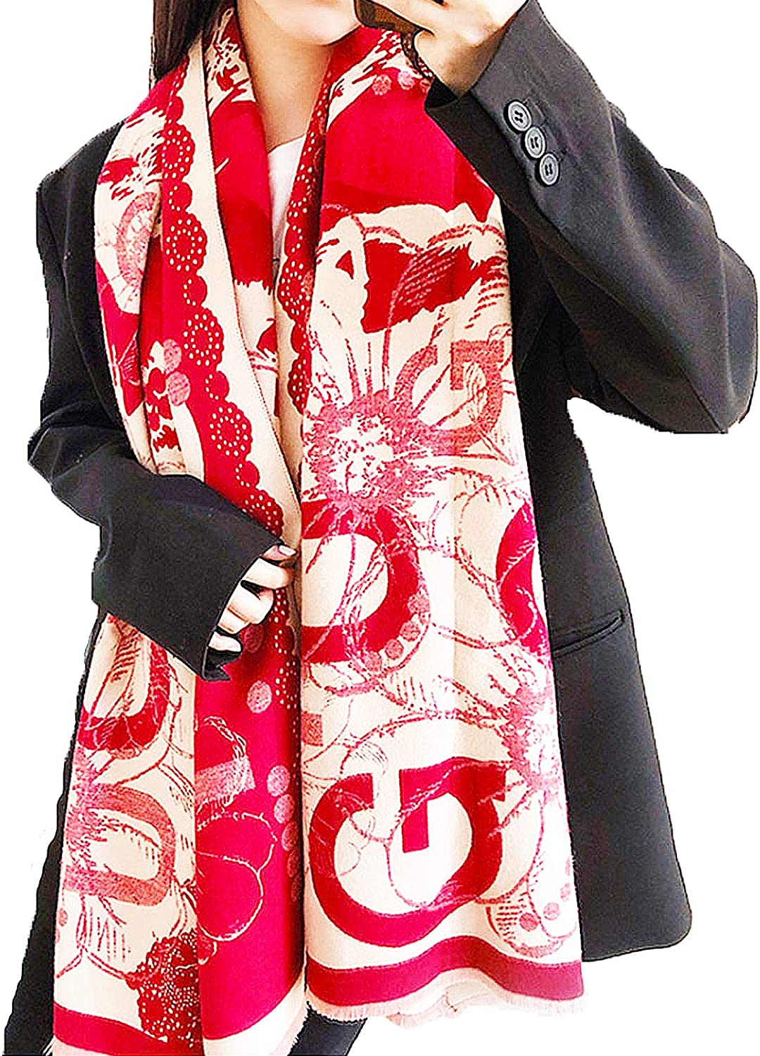 Ink style women's fashion scarf is thicker and warmer. Can be used as a shawl.…