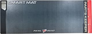 "Real Avid Universal Smart Mat - 43x16"", Long Gun Cleaning Mat, Red Parts Tray"
