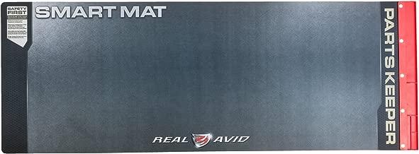 "Real Avid Universal Smart Mat - 43x16"", Long Gun Cleaning Mat, Red Parts Tray"