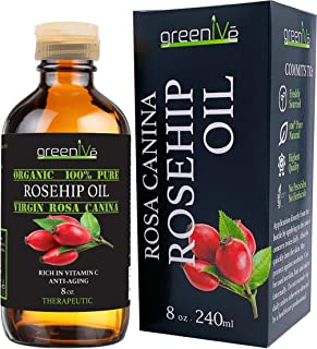 GreenIVe - Rosehip Oil - Rosa Canina - 100% Pure - Cold Pressed - Virgin - Exclusively on Amazon (8 Ounce)