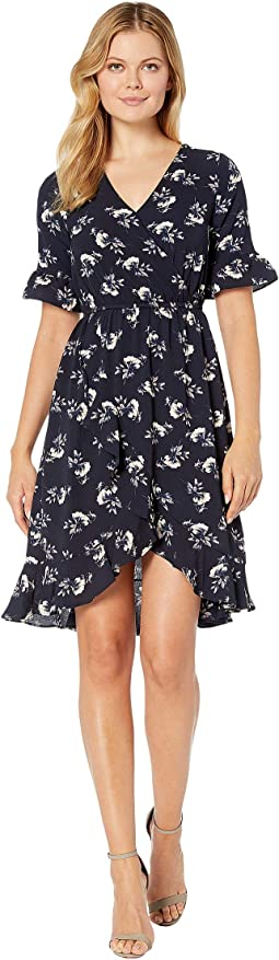 Navy/Taupe Floral