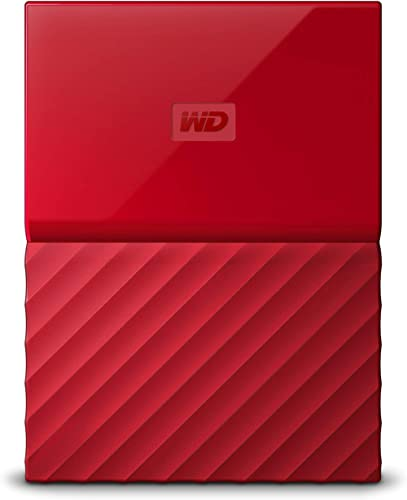 WD My Passport 1TB Portable External Hard Drive (Red) product image