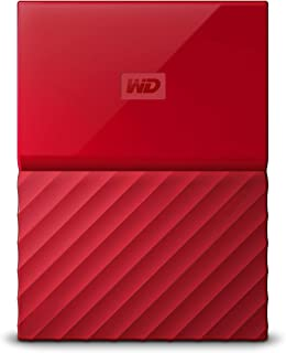 WD My Passport 1 TB Portable Hard Drive for PC, Xbox One and PlayStation 4 - Red