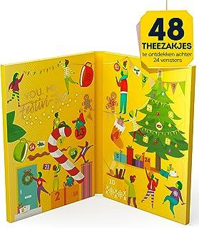 Lipton Thee Kerst Adventskalender 2021, voor de echte theeliefhebbers - 48 Theezakjes - 1 Kalender