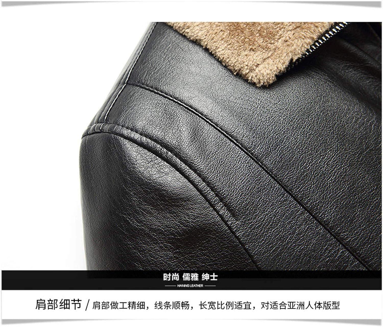 Men's Winter Spread Collar Sherpa Lined Suede Leather Trucker Jacket Coats Outwear Overcoat (Black,X-Large)