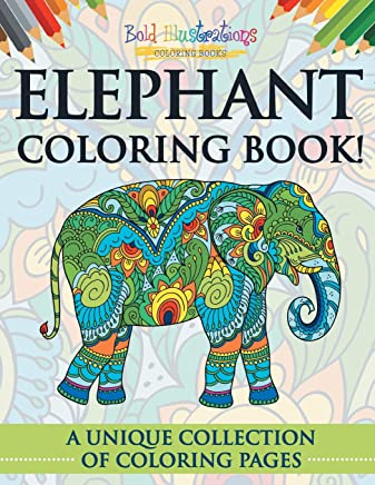 elephant coloring book a unique