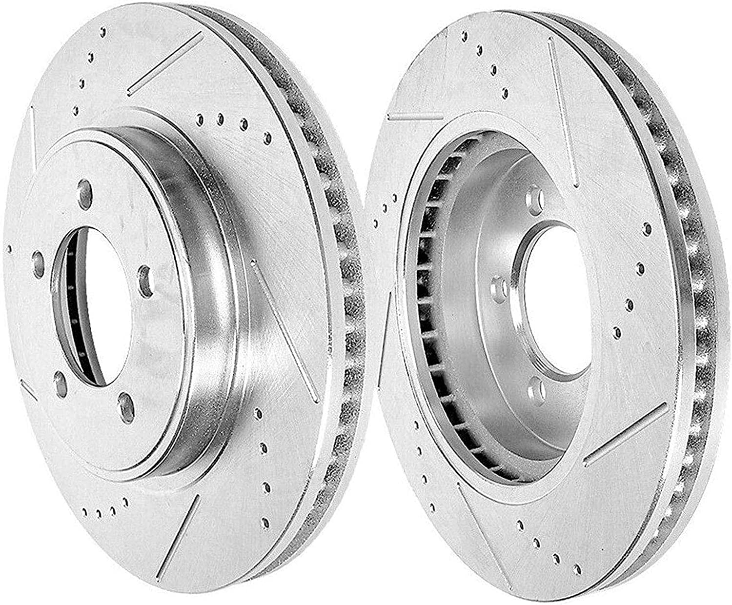Rear Drilled New color Slotted Disc Brake Rotors Max 45% OFF Fits Dart for Dodge 201