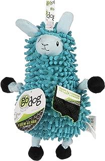 goDog Llamas Noodle Plush with Chew Guard Technology Durable Plush Dog Toy