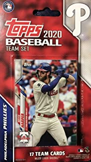 Philadelphia Phillies 2020 Topps Factory Sealed Special Edition 17 Card Team Set with Bryce Harper and Rhys Hoskins Plus
