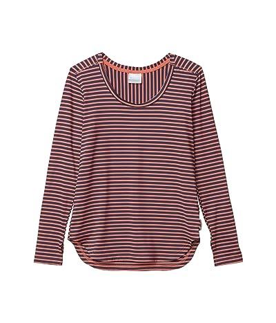 Columbia Firwood Camptm Long Sleeve Tee (Dark Coral Medium Stripe) Women