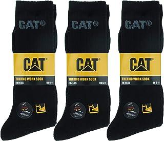 Caterpillar, 6 pares de calcetines térmicos CAT hombres, hechos de algodón suave y acrílico de alta calidad, puntera y talón reforzados