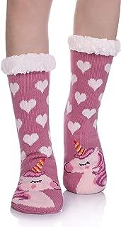 Women Warm Soft Plush Slipper Socks Winter Fluffy Fleece Lining Home Fuzzy Cozy Socks