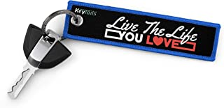 Keychains by KeyTails, Premium Quality Key Tag for Inspirational, Fitness, Motivational [Live The Life You Love]