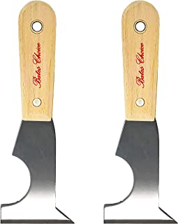Bates- Paint Scraper, Taping knife, Pack of 2 Putty Knife Scraper, Scraper, 5 in 1 tools, Spackle Knife, Caulk Removal Tool, Painters Tool, Paint Can Opener, Paint Remover for Wood, Wallpaper Scraper