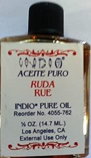 Indio Rue Oil for Magic and Rituals/aceite Espiritual De Ruda Para Rituales Y Magia