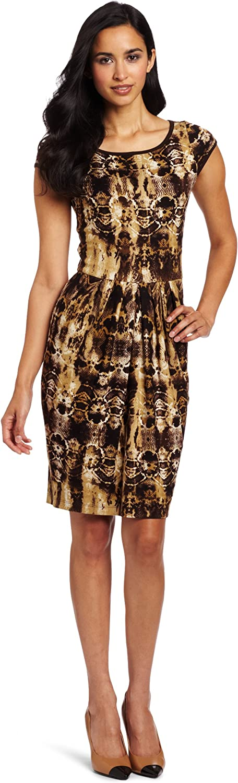 Karen Kane Women's Python Pleated Dress