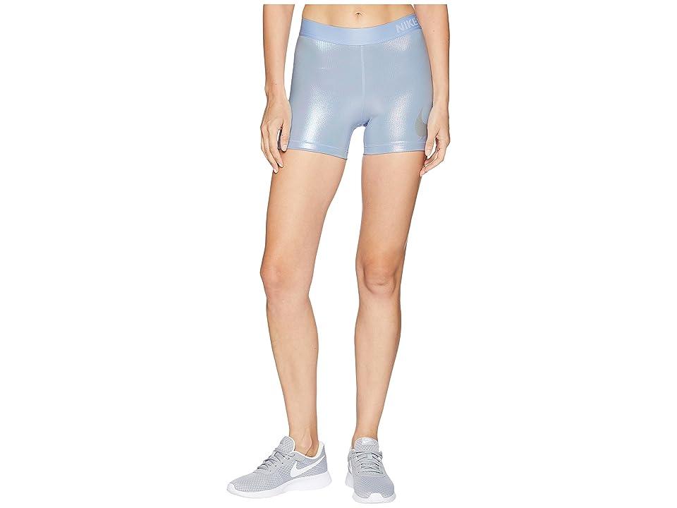 Nike Rise Pack Shorts 3 (Royal Tint/Metallic Silver) Women's Shorts, Blue