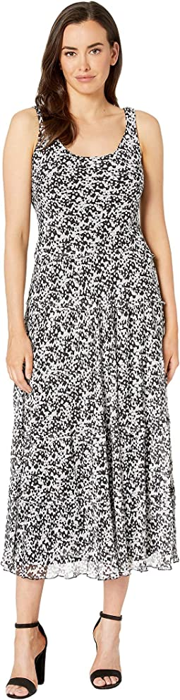 65270c4e958 Nine West. Printed Ity Sleeveless Crew Neck Trapeze Dress.  30.99MSRP    79.00. Black Ivory