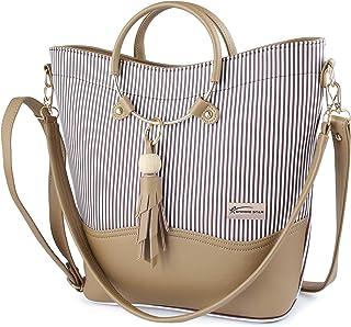 Shining Star Women's Multi-Coloured (Maroon+Beige) Handbag