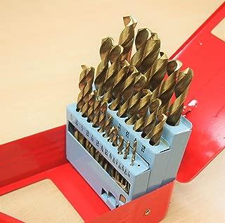 "29PC HSS Titanium Coated Drill Bits Set 1/16"" to 1/2"""