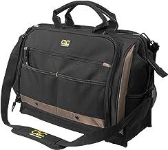 Bolsa de ferramentas CLC Custom LeatherCraft 1539 com vários compartimentos e 50 bolsos